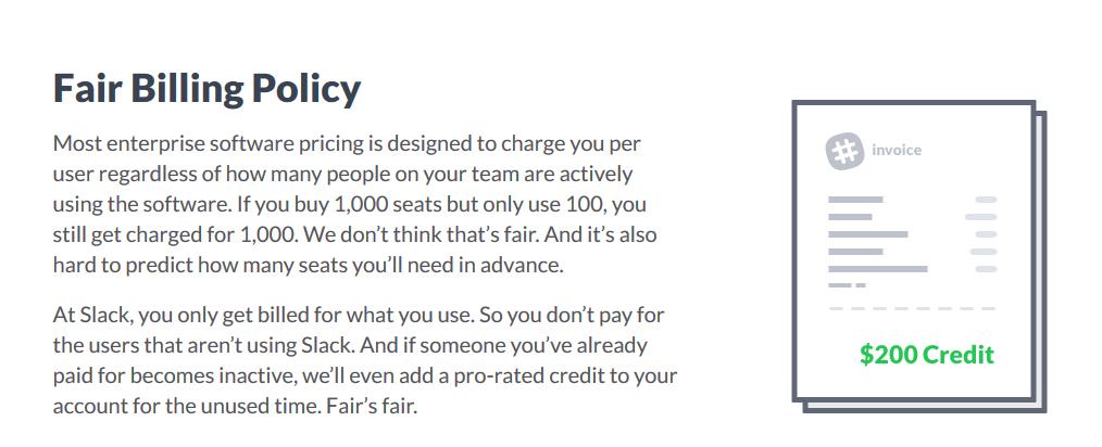 Slack - Fair Billing